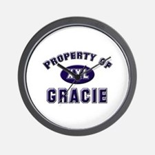 Property of gracie Wall Clock