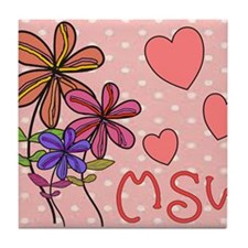 MSW Flowers Tile Coaster