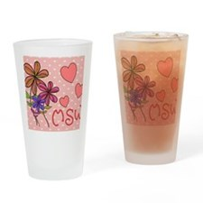MSW Flowers Drinking Glass