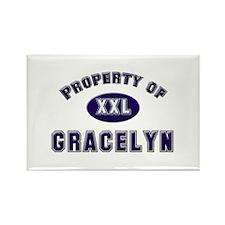 Property of gracelyn Rectangle Magnet