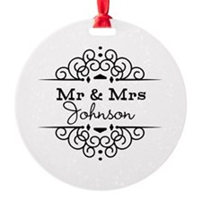 Personalized Mr and Mrs Ornament