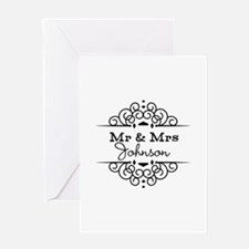 Personalized Mr and Mrs Greeting Cards