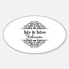 Personalized Mr and Mrs Bumper Stickers