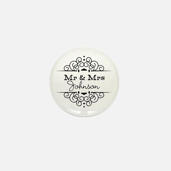 Personalized Mr and Mrs Mini Button
