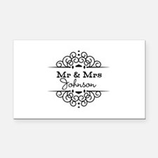 Personalized Mr and Mrs Rectangle Car Magnet