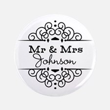 "Personalized Mr and Mrs 3.5"" Button (100 pack)"