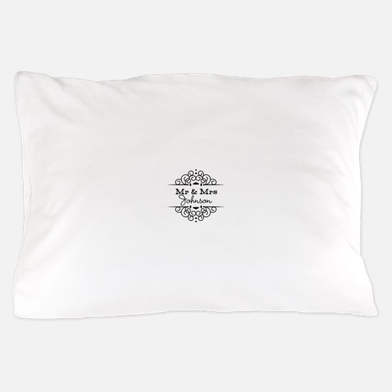 Personalized Mr and Mrs Pillow Case