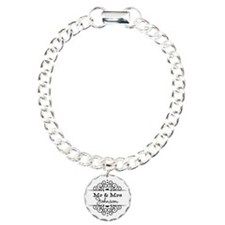Personalized Mr and Mrs Charm Bracelet, One Charm
