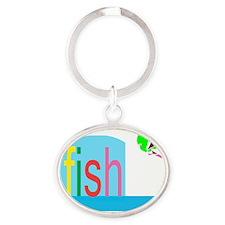 fishes_fish Oval Keychain