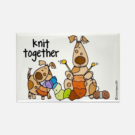 Knit together II Rectangle Magnet