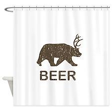 Beer Bear Deer Shower Curtain