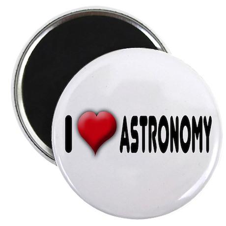"""I Heart (Love) Astronomy 2.25"""" Magnet (10 pack)"""