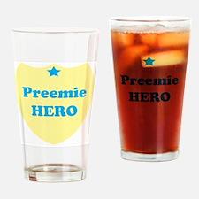 premieheroblue Drinking Glass