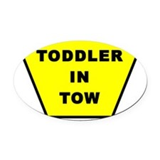 toddler-in-tow Oval Car Magnet