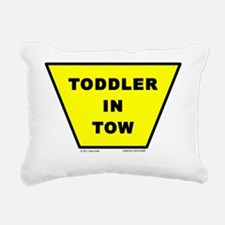 toddler-in-tow Rectangular Canvas Pillow