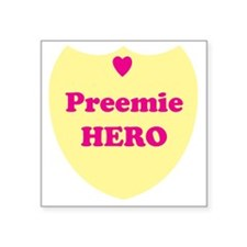 "preemiehero Square Sticker 3"" x 3"""