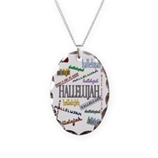 hallelujahtall Necklace Oval Charm
