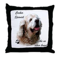 Cocker Breed Throw Pillow