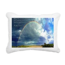 Psalm 128-5 Full Rainbow Rectangular Canvas Pillow