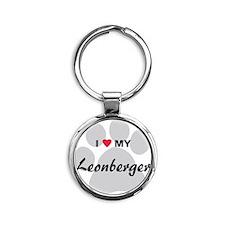 Leonberger Round Keychain