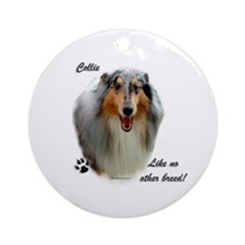 Collie Breed Ornament (Round)