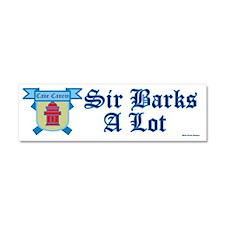 Sir Barks A lot Car Magnet 10 x 3
