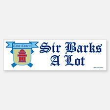 Sir Barks A lot Bumper Bumper Sticker