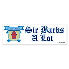 Sir Barks A lot Bumper Sticker