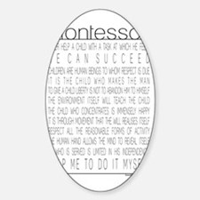MontessoriQuotes Sticker (Oval)