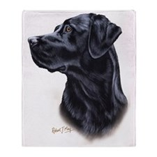Black Lab 3 Throw Blanket