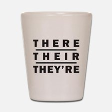 There / Their / Theyre - Grammar Shot Glass