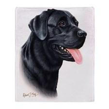 Black Lab1 Throw Blanket