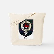 Blair Clan Crest Tartan Tote Bag