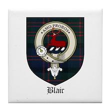 Blair Clan Crest Tartan Tile Coaster