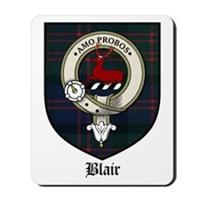 Blair Clan Crest Tartan Mousepad