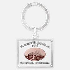 comptonhigh1908 Landscape Keychain