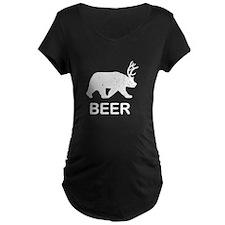 Beer Bear Deer Maternity T-Shirt