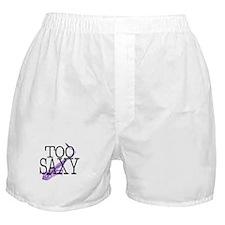 Too Saxy Saxaphone Player Boxer Shorts