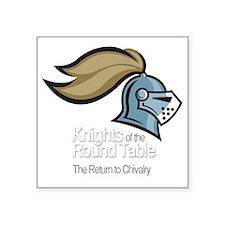 "knights-logo-shirt-WHITE Square Sticker 3"" x 3"""