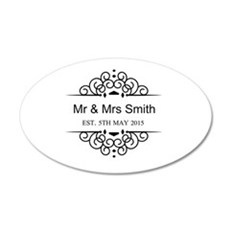 Custom Couples Name and wedding date Wall Sticker