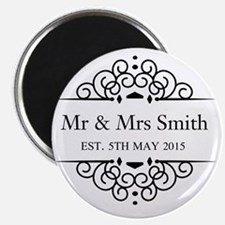 Custom Couples Name and wedding date Magnets