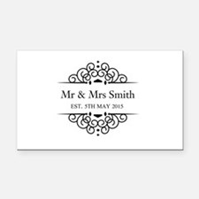 Custom Couples Name and wedding date Rectangle Car