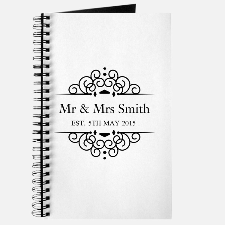 Custom Couples Name and wedding date Journal