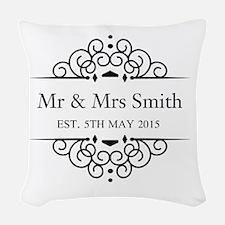 Custom Couples Name and wedding date Woven Throw P