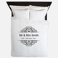 Custom Couples Name and wedding date Queen Duvet
