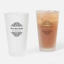 Custom Couples Name and wedding date Drinking Glas