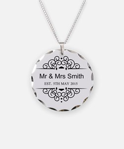 Custom Couples Name and wedding date Necklace
