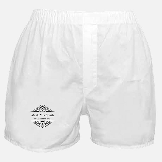 Custom Couples Name and wedding date Boxer Shorts