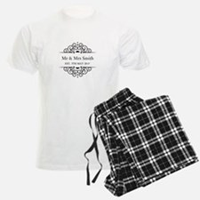 Custom Couples Name and wedding date pajamas