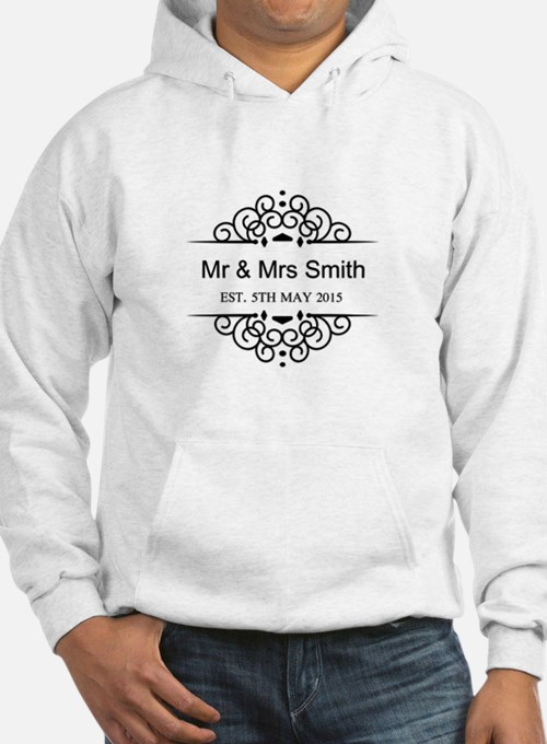 Custom Couples Name and wedding date Jumper Hoody